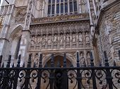 West gate of Westminster Abbey, London, UK