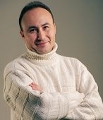 picture of debonair  - Portrait of a businessman in a sweater and smiling age thirty - JPG