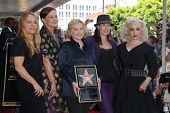 Charlotte Caffey, Belinda Carlisle, Gina Schock, Kathy Valentine and Jane Wiedlin at the Go-Go's induction into the Hollywood Walk of Fame, Hollywood, CA. 08-11-11