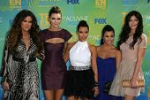 Khloe Kardashian, Kendall Jenner, Kim Kardashian, Kourtney Kardashian, Kylie Jenner at the 2011 Teen Choice Awards, Universal Amphitheater, Universal City, CA. 08-07-11