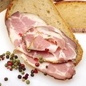 bread and smoked pork