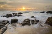 stock photo of sea-scape  - Sea scape with stone beach at Phuket Thailand - JPG