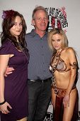 Natalie Wilde, John Wiseman, Paula Labaredas at the Vera Mesmer Video Release Party, featuring Harry The Dog and Paula Labareas of ComicCosplay, Aqua Lounge, Beverly Hills, CA. 03-09-11