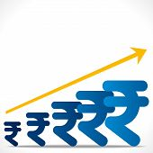increase rupee graph background vector