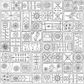 Seamless pattern with doodle frames.