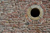 Brick Wall And Round Hole