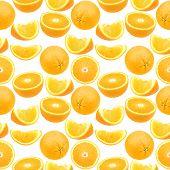 Seamless Pattern Of Oranges