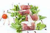 meat rolls with meat and greens