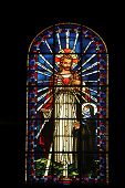 PARIS,FRANCE NOV 07: Sacred heart of Jesus and Saint Margaret Mary Alacoque, Notre-Dame de Clignanco