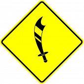 scimitar sword symbol