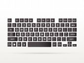 picture of floating  - Illustration of a keyboard floating on a white background - JPG