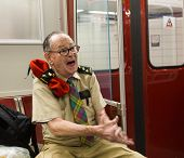 Joyful Man On Toronto Subway