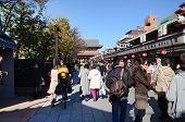 Tokyo, Japan - Nov 21 : Tourists Visit Nakamise Shopping Street In Asakusa, Tokyo