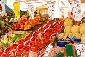 Fruit And Vegetable In The Market Of  Venice, Italy