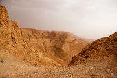 Hiking In Judean Stone Desert, Middle East