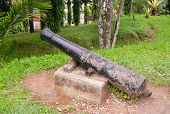 Cannon At Fort De Kock. Bukittinggi. Sumatra Island. Indonesia