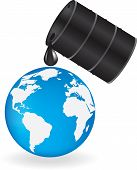 Oil is dripping on Earth