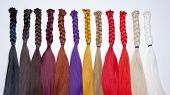 stock photo of hair integrations  - Artificial Hair Used for Production of Wigs and Extensions - JPG