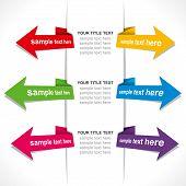 creative business arrow info-graphics vector