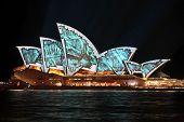 Sydney Opera House During Vivid Annual Festival