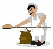 baker who bakes bread