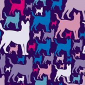 picture of dog clothes  - pattern with dogs - JPG