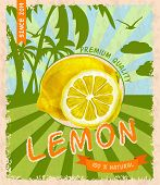 Lemon retro poster