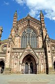pic of hereford  - Front view of the Cathedral Hereford Herefordshire England UK Western Europe - JPG
