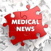 Medical News on Red Puzzle.
