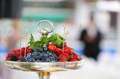 Bowl of fresh fruits. Shallow DOF