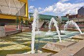 Downtown Fountain Tacoma Washington.