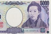 Close - up Bank note of Japanese 5000 yen
