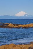 Mount Fuji and the sea of Shonan, Japan