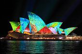 Vibrant Colours On The Sydney Opera House