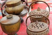 Set Bowl Vintage Copper Sold In The Market.