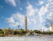 Cairo Tower, Cairo On The Nile In Egypt