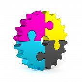 Cmyk Puzzle Jigsaw Gear