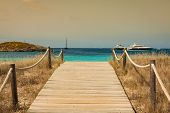 Beach Way To Illetes Paradise Beach In Formentera Balearic Islands