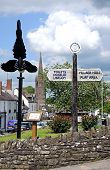 Magpie statue and signpost, Weobley.
