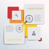 Infographic design elements with figutes and icons. Eps 10 illustration