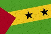 Sao Tome And Principe Flag Jigsaw Puzzle