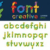 ABC liquid splash abstract vector design. Funny Font rounded. Children, Sales, Fun creative style.