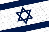 Israel Nation Flag Jigsaw Puzzle
