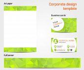 Green Corporate Design Template Set
