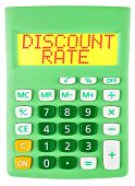 Calculator With Discount Rate On Display