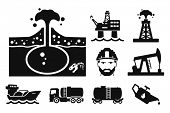 picture of tank truck  - Gas and Oil icons set  - JPG