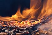 foto of fuel economy  - closeup image of wood pellets - JPG