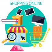 Internet shopping process and delivery
