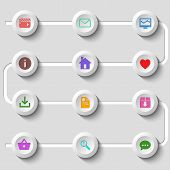 Flat design set of web and mobile icons