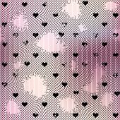 Torn mesh with hearts